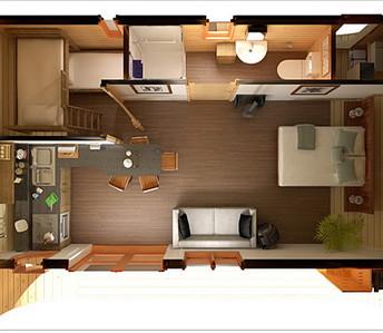 План 1 этажа в цвете