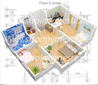 План 2 этажа +3D